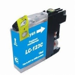 BROTHER LC123C compatible - Cartouche d'encre cyan