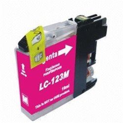 BROTHER LC123M compatible - Cartouche d'encre magenta