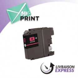 BROTHER LC121M compatible - Cartouche d'encre magenta