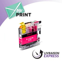 BROTHER LC223M compatible - Cartouche d'encre magenta