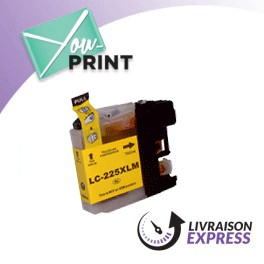 BROTHER LC225XLY compatible - Cartouche d'encre jaune